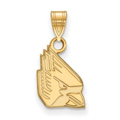 Picture of Ball State University Cardinals Sterling Silver Gold Plated Small Pendant