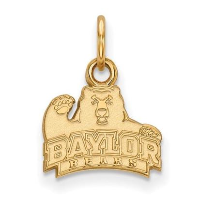 Picture of Baylor University Bears Sterling Silver Gold Plated Extra Small Pendant