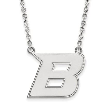 Picture of Boise State University Broncos 10k White Gold Large Necklace