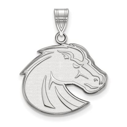 Picture of Boise State University Broncos 10k White Gold Large Pendant