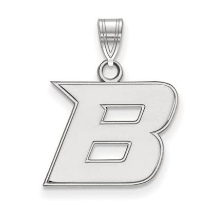 Picture of Boise State University Broncos 10k White Gold Small Pendant