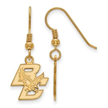 Picture of Boston College Eagles Sterling Silver Gold Plated Small Dangle Earrings