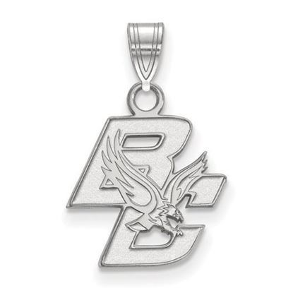 Picture of Boston College Eagles 10k White Gold Small Pendant