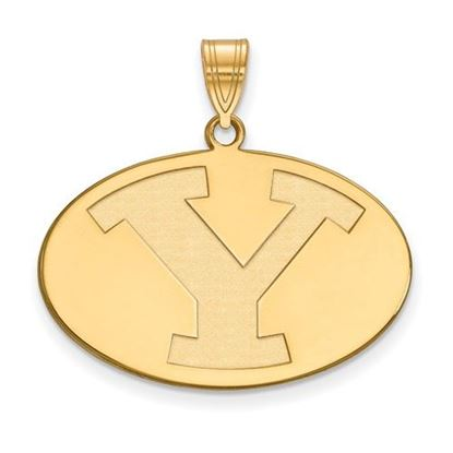 Picture of Brigham Young University Cougars 14k Sterling Silver Gold Plated Large Pendant