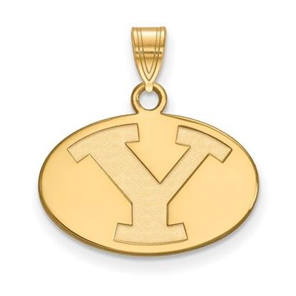 Picture of Brigham Young University Cougars 14k Sterling Silver Gold Plated Small Pendant