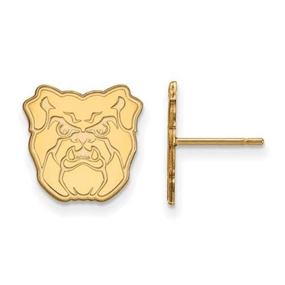 Picture of Butler University Bulldogs Sterling Silver Gold Plated Small Post Earrings