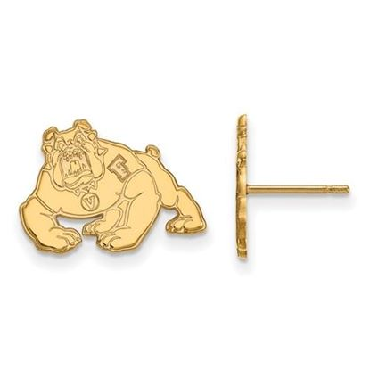 Picture of California State University Fresno Bulldogs 14k Yellow Gold Small Post Earrings