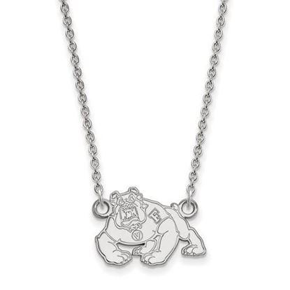 Picture of California State University Fresno Bulldogs 10k White Gold Small Necklace