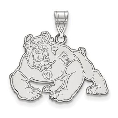 Picture of California State University Fresno Bulldogs 10k White Gold Large Pendant