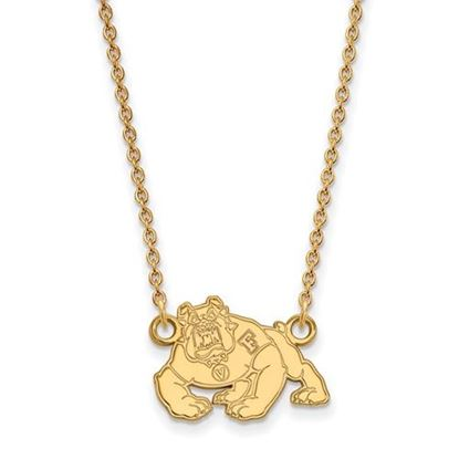 Picture of California State University Fresno Bulldogs 10k Yellow Gold Small Necklace