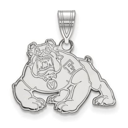 Picture of California State University Fresno Bulldogs 14k White Gold Medium Pendant