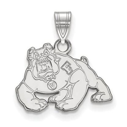 Picture of California State University Fresno Bulldogs 14k White Gold Small Pendant