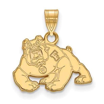 Picture of California State University Fresno Bulldogs 14k Yellow Gold Small Pendant