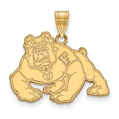 Picture of California State University Fresno Bulldogs Sterling Silver Gold Plated Large Pendant