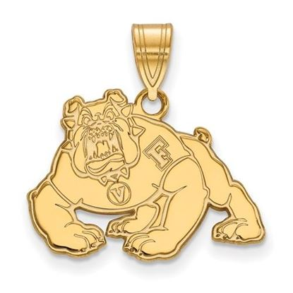 Picture of California State University Fresno Bulldogs Sterling Silver Gold Plated Medium Pendant