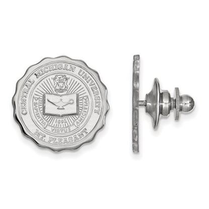 Picture of Central Michigan University Chippewas 14k White Gold Crest Lapel Pin
