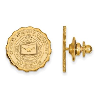 Picture of Central Michigan University Chippewas 14k Yellow Gold Crest Lapel Pin