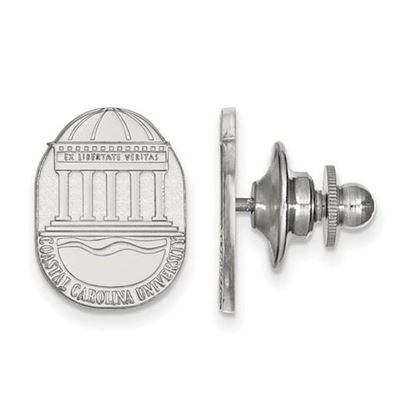Picture of Coastal Carolina University Chanticleers 14k White Gold Crest Lapel Pin