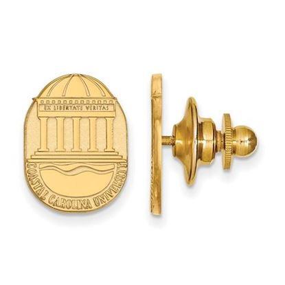 Picture of Coastal Carolina University Chanticleers 14k Yellow Gold Crest Lapel Pin