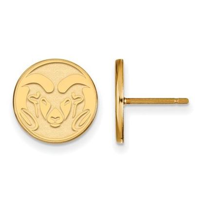 Picture of Colorado State University Rams 10k Yellow Gold Small Post Earrings
