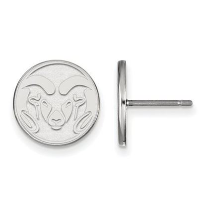 Picture of Colorado State University Rams 14k White Gold Small Post Earrings
