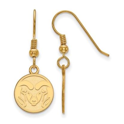 Picture of Colorado State University Rams Sterling Silver Gold Plated Small Dangle Earrings