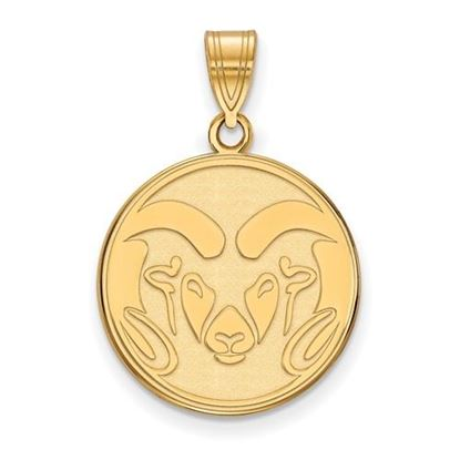 Picture of Colorado State University Rams 14k Yellow Gold Large Pendant