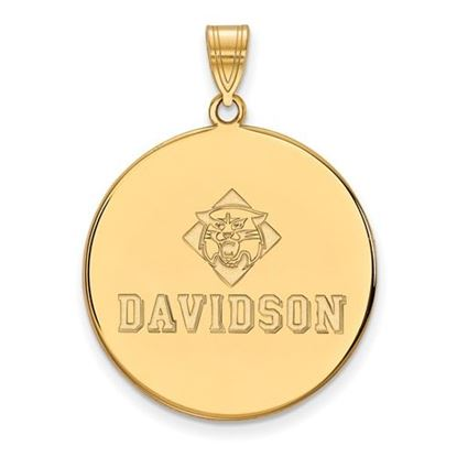 Picture of Davidson College Wildcats 10k Yellow Gold Extra Large Disc Pendant