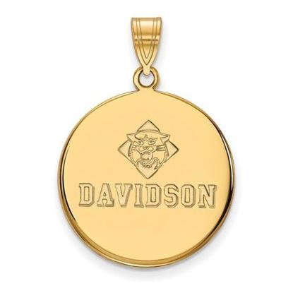 Picture of Davidson College Wildcats 10k Yellow Gold Large Disc Pendant