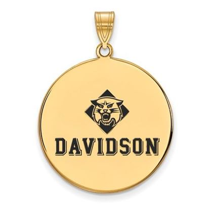 Picture of Davidson College Wildcats Gold Plated Enameled Wildcats Pendant