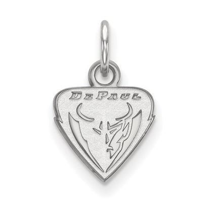 Picture of DePaul University Blue Demons 14k White Gold Extra Small Pendant
