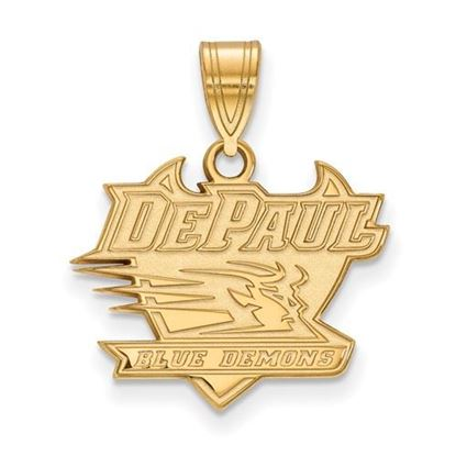 Picture of DePaul University Blue Demons Sterling Silver Gold Plated Medium Pendant