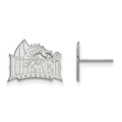 Picture of Drexel University Dragons 14k White Gold Small Post Earrings