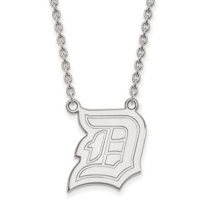 Picture of Duquesne University Dukes 10k White Gold Large Necklace