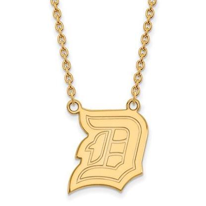 Picture of Duquesne University Dukes 10k Yellow Gold Large Necklace