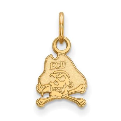 Picture of East Carolina University Pirates Sterling Silver Gold Plated Extra Small Pendant