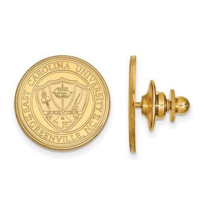 Picture of East Carolina University Pirates 14k Yellow Gold Crest Lapel Pin