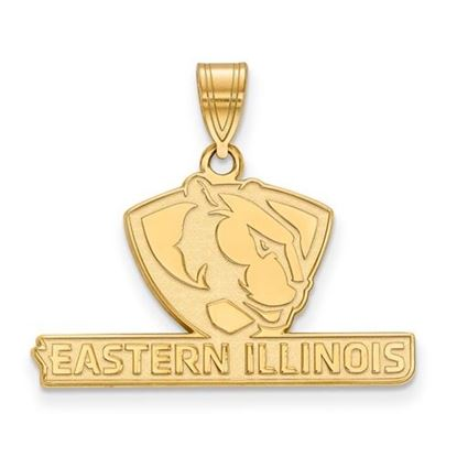 Picture of Eastern Illinois University Panthers Sterling Silver Gold Plated Medium Pendant
