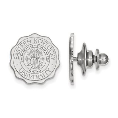 Picture of Eastern Kentucky University Pirates 14k White Gold Crest Lapel Pin