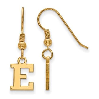 Picture of Eastern Michigan University Eagles Sterling Silver Gold Plated Extra Small Dangle Earrings