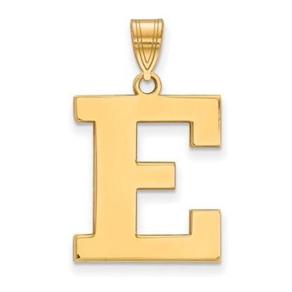 Picture of Eastern Michigan University Eagles Sterling Silver Gold Plated Large Pendant