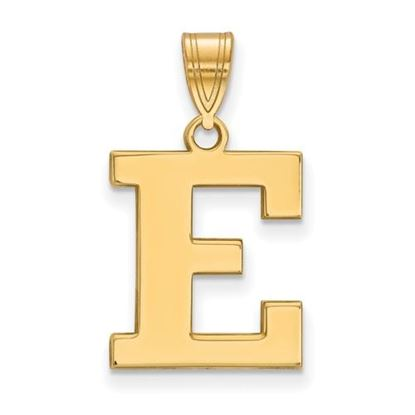 Picture of Eastern Michigan University Eagles Sterling Silver Gold Plated Medium Pendant