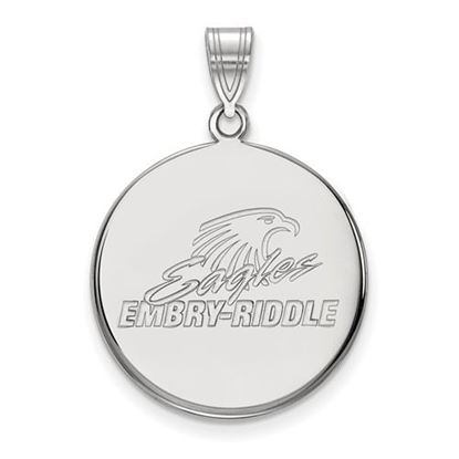Picture of Embry-Riddle Aeronautical University Eagles 14k White Gold Large Disc Pendant