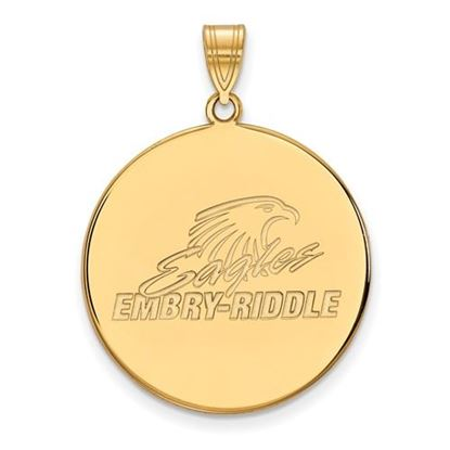 Picture of Embry-Riddle Aeronautical University Eagles Sterling Silver Gold Plated Extra Large Disc Pendant