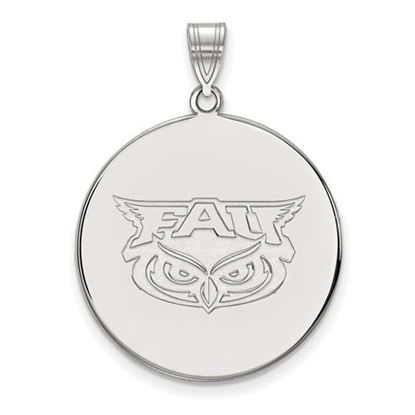 Picture of Florida Atlantic University Owls 14k White Gold Extra Large Disc Pendant