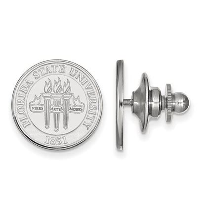 Picture of Florida State University Seminoles 14k White Gold Crest Lapel Pin