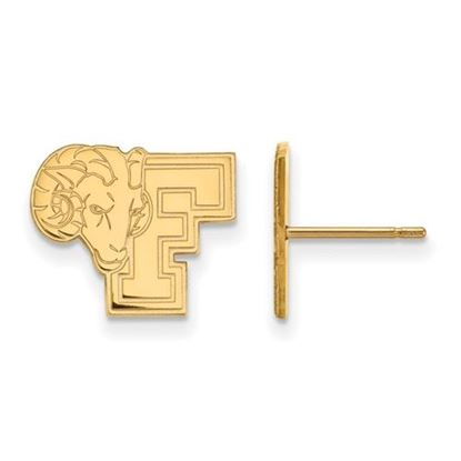 Picture of Fordham University Rams 10k Yellow Gold Small Post Earrings