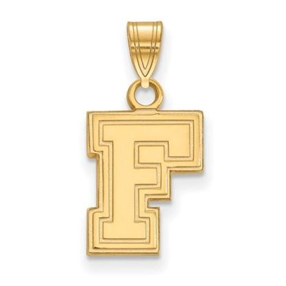Picture of Fordham University Rams Sterling Silver Gold Plated Small Pendant