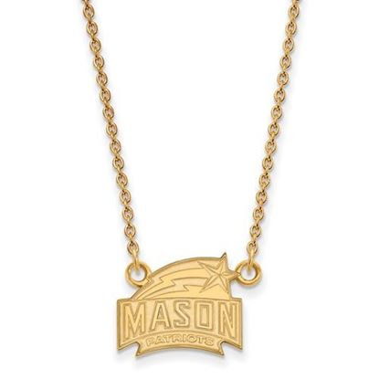 Picture of George Mason University Patriots Sterling Silver Gold Plated Small Necklace