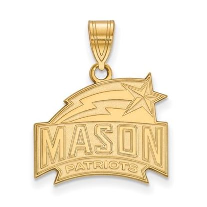 Picture of George Mason University Patriots Sterling Silver Gold Plated Medium Pendant